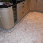 amtico signature design with 3 strip border